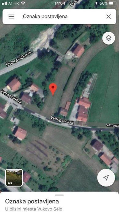 Vukovo Selo – zemljište površine 1248 m2 – 12.000 €